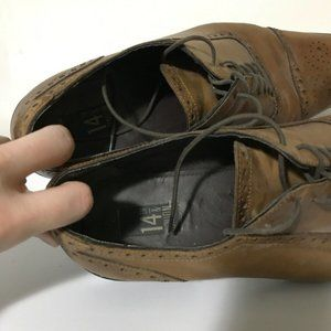 14th & Union Shoes - 14th & Union Oxford Brogue Brown Leather Shoe